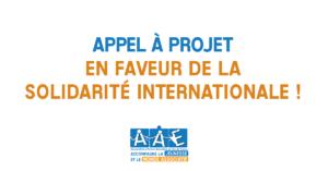 Appel à projet en faveur de la solidarité internationale !